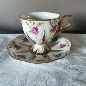 Royal Strafford Corset Rose Teacup & Saucer